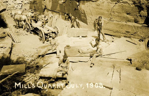 Mills Quarry Shinhopple 1908