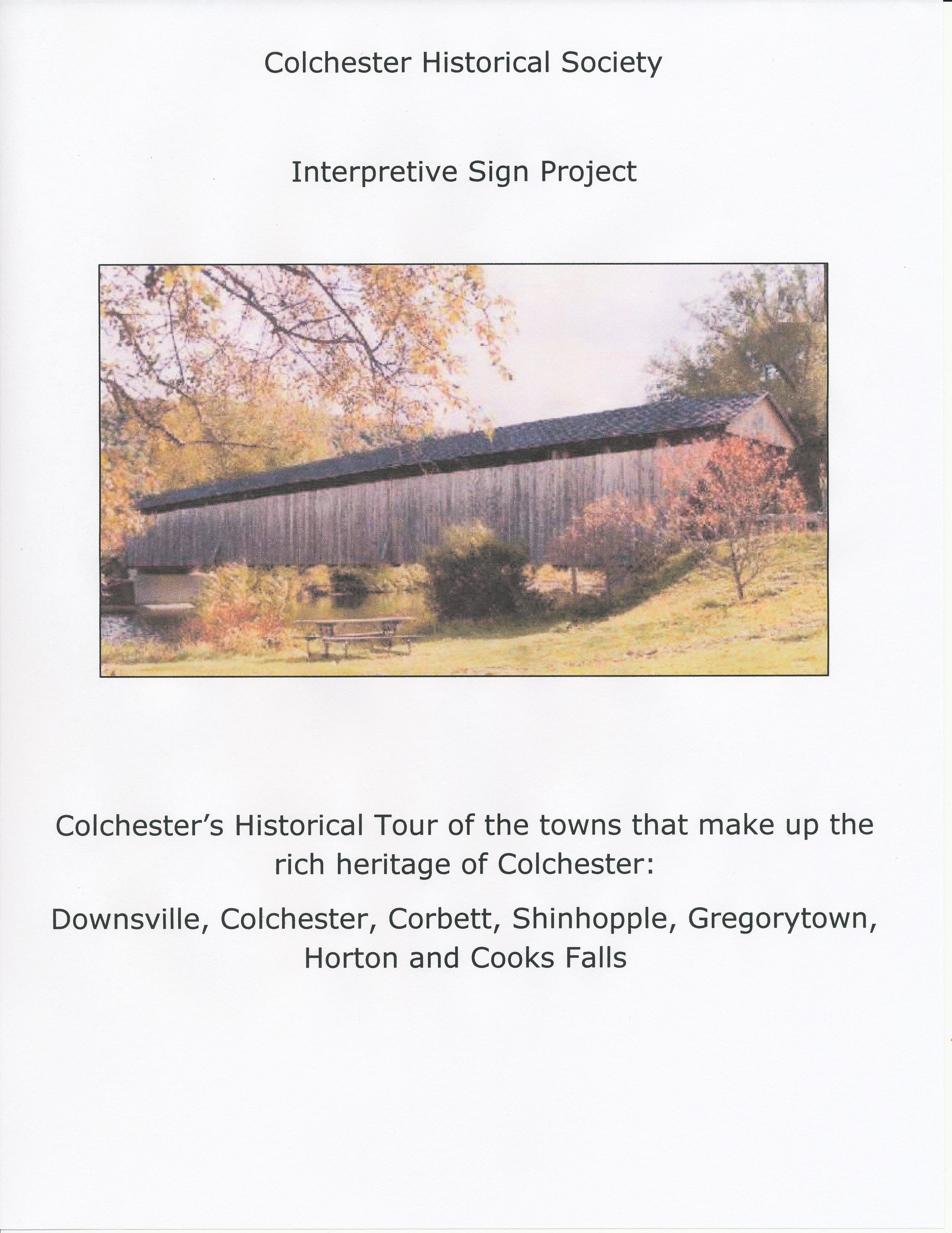 Interpretive Sign Project